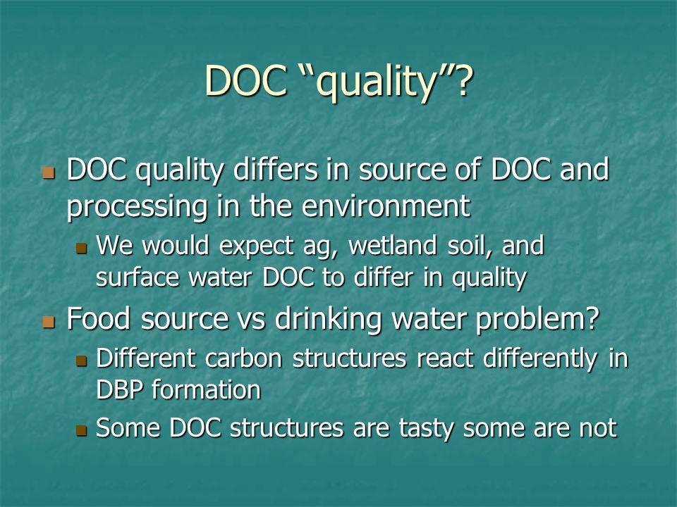 DOC quality.