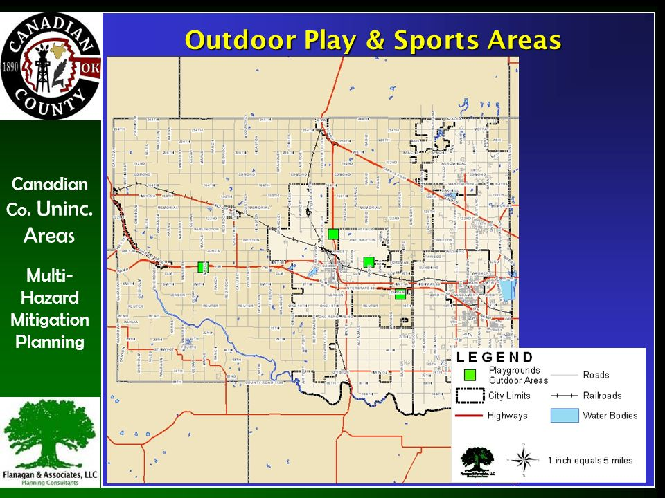 Canadian Co. Uninc. Areas Multi- Hazard Mitigation Planning Outdoor Play & Sports Areas