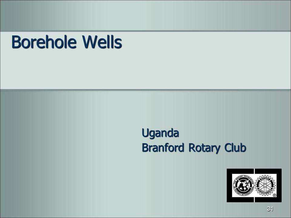 Borehole Wells Uganda Branford Rotary Club 31