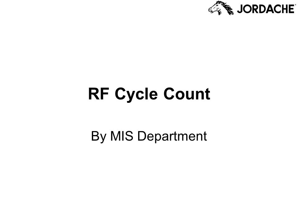 RF Cycle Count By MIS Department