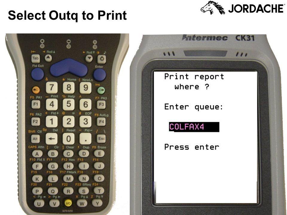 Select Outq to Print
