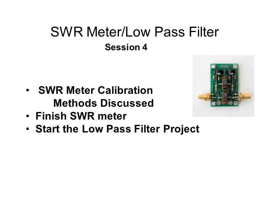 SWR Meter Calibration SWR = [1+x]/[1-x] where x = Sqrt(P R /P F ) P R is the Forward Power P F is the Reverse Power We get P R and P F from the SWR meter