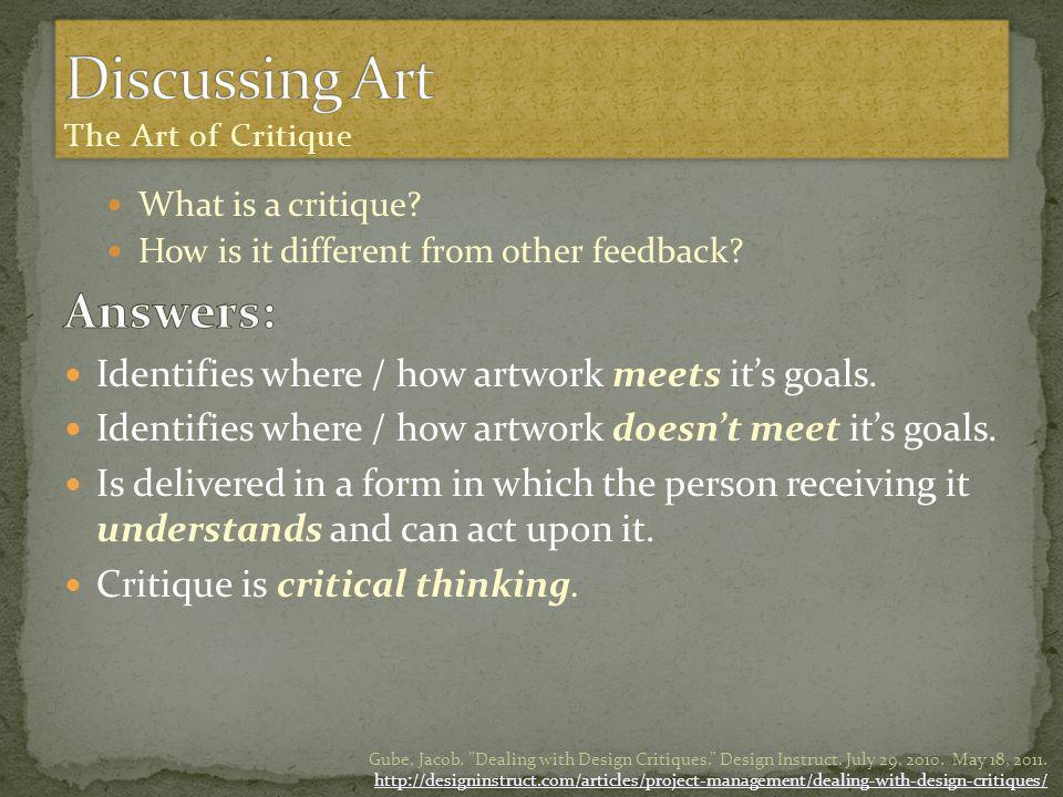 How Critique influences the design process: McDaniel, Cassie.