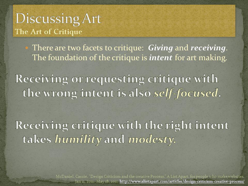 McDaniel, Cassie.Design Criticism and the creative Process.