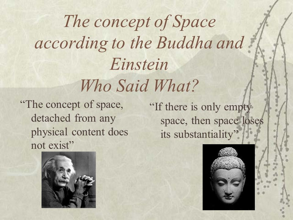 The concept of Space according to the Buddha and Einstein Who Said What? The concept of space, detached from any physical content does not exist If th