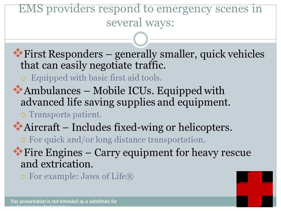 Calm the caller Get needed information about the emergency Send the Emergency Medical crew to the scene of the emergency May give the caller instructi