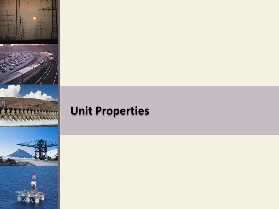Unit Properties
