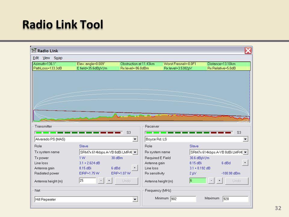 32 Radio Link Tool