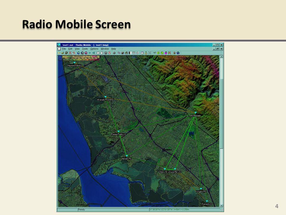 4 Radio Mobile Screen