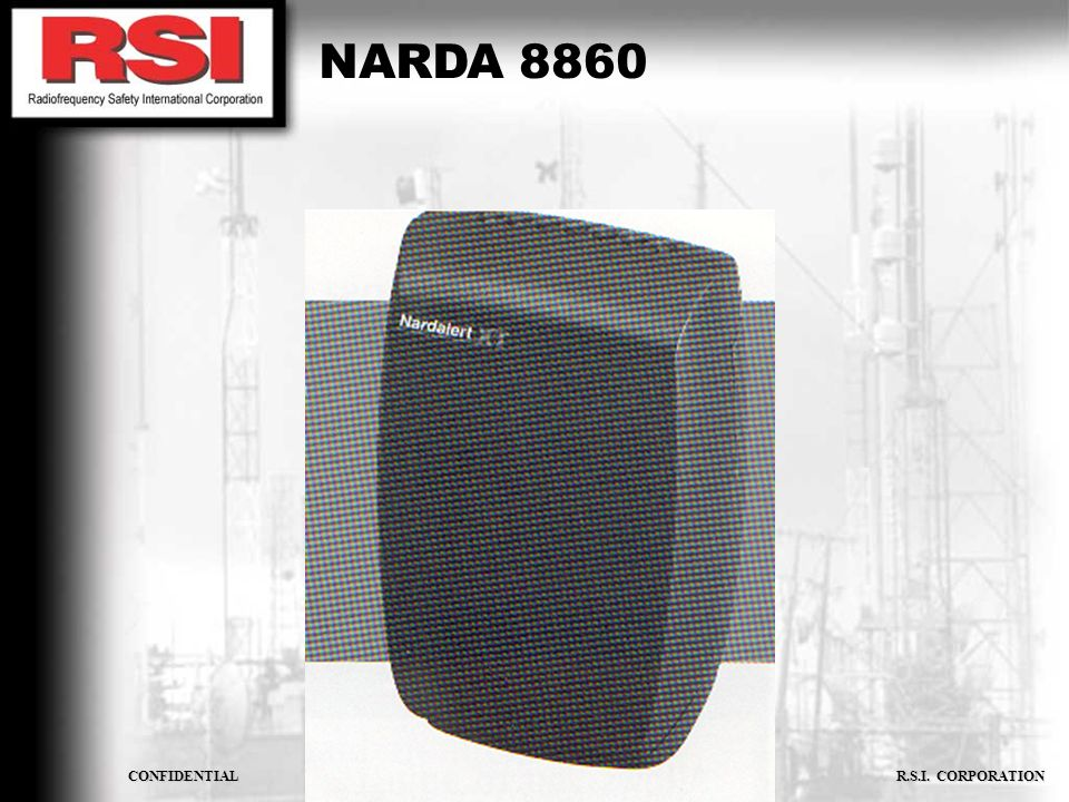 CONFIDENTIAL R.S.I. CORPORATION NARDA 8860
