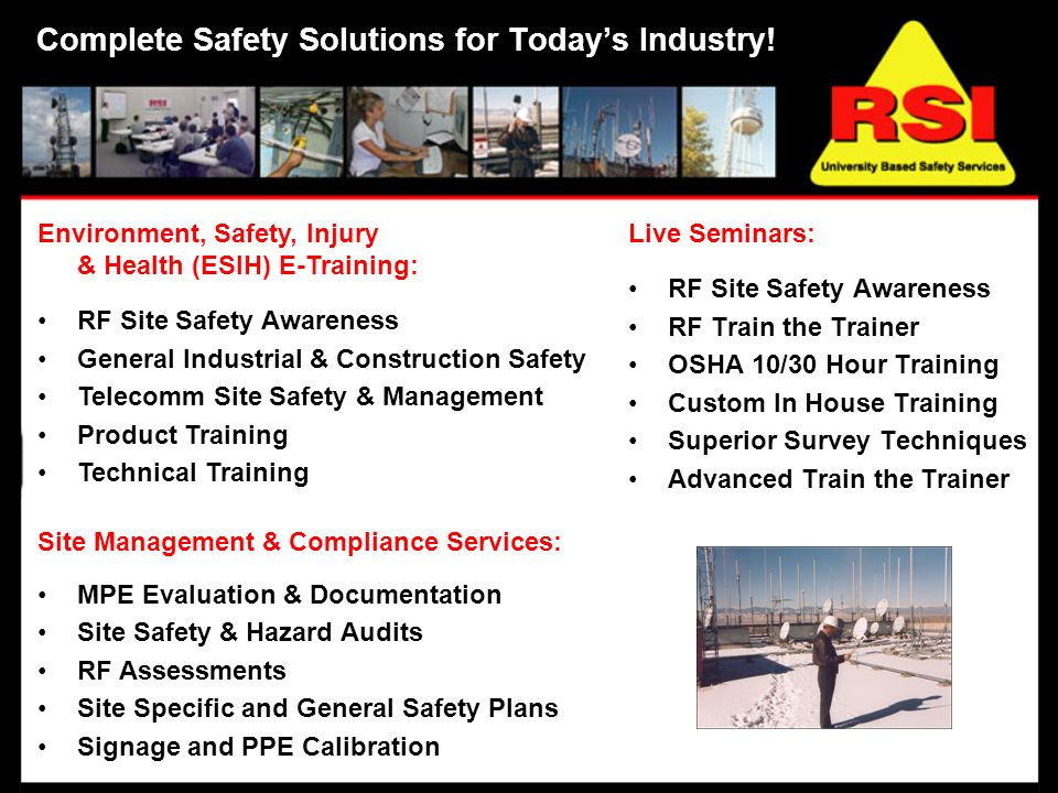 Complete Safety Solutions for Todays Industry.