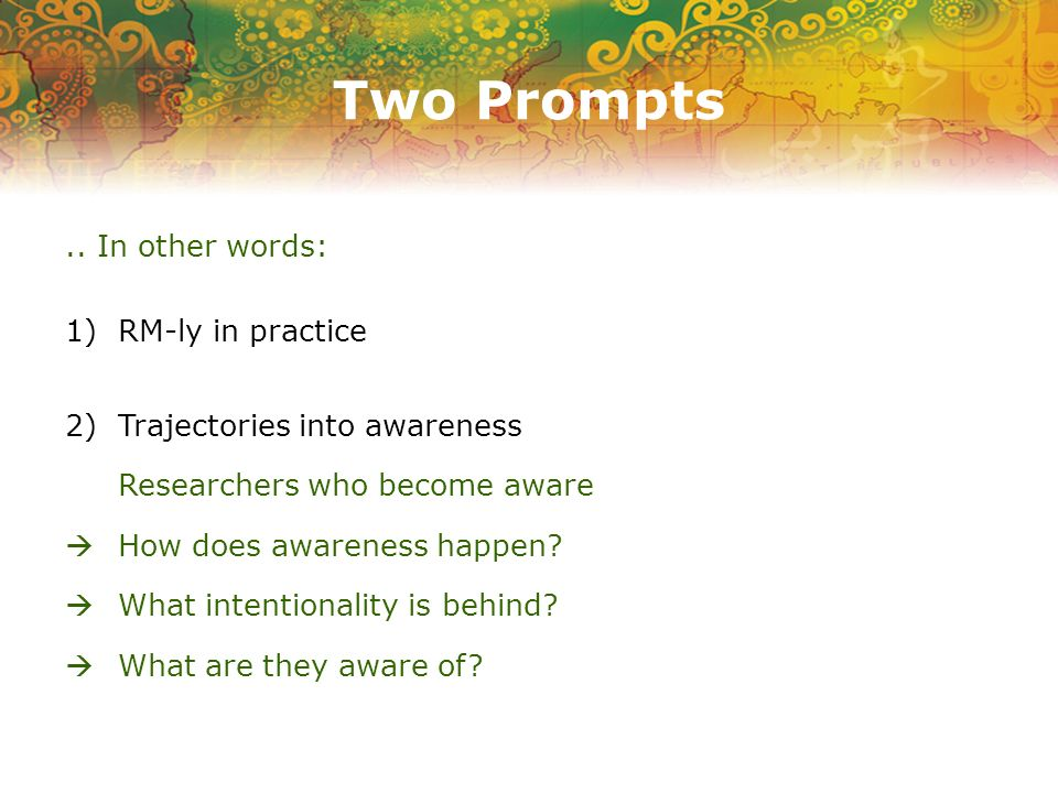 Two Prompts..