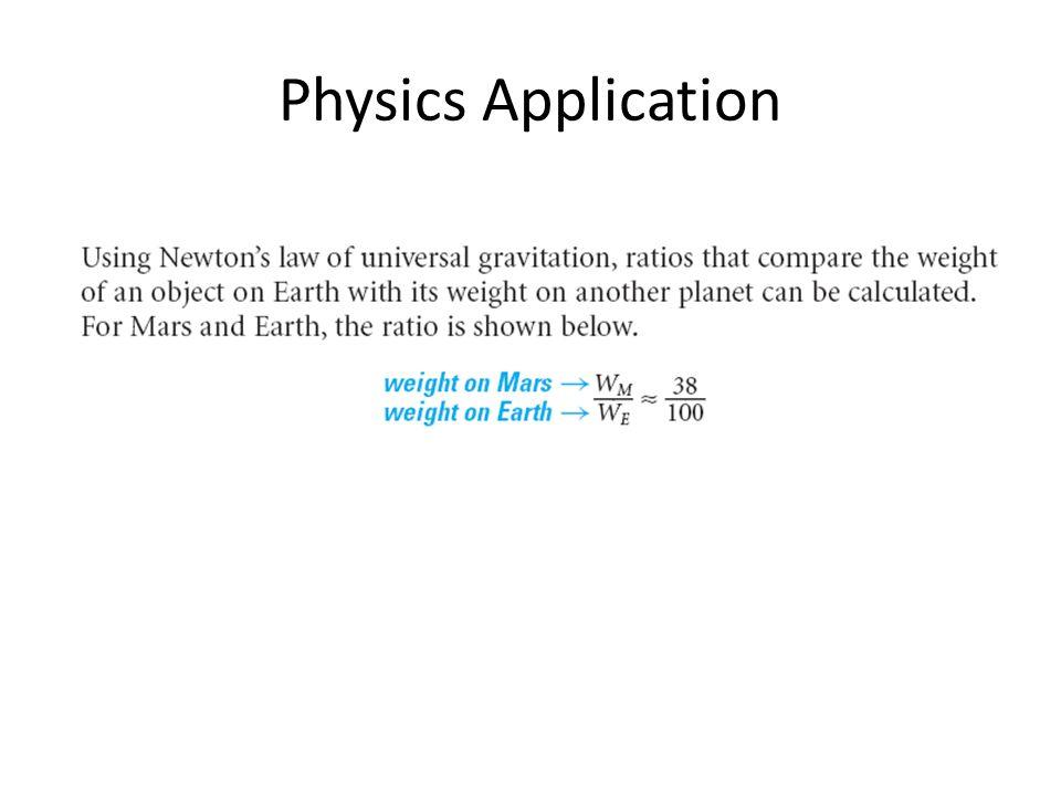 Physics Application
