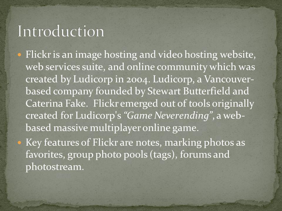 Flickr provides both private and public image storage.