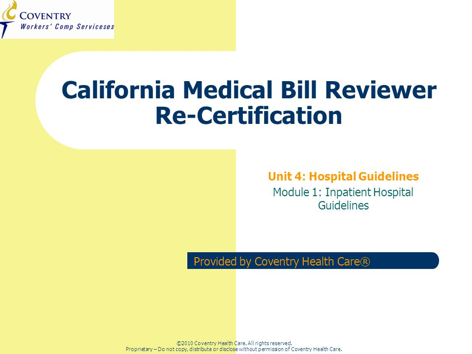 42 CA Regulation Refresher – Inpatient Hospital March 2011 Exempt Items Also exempt from the Inpatient Fee Schedule … O Rehabilitation hospital or rehabilitation units of an acute care O hospital, psychiatric hospital or psychiatric unit of an acute care hospital, are exempt from the maximum reimbursement formula for inpatient services.