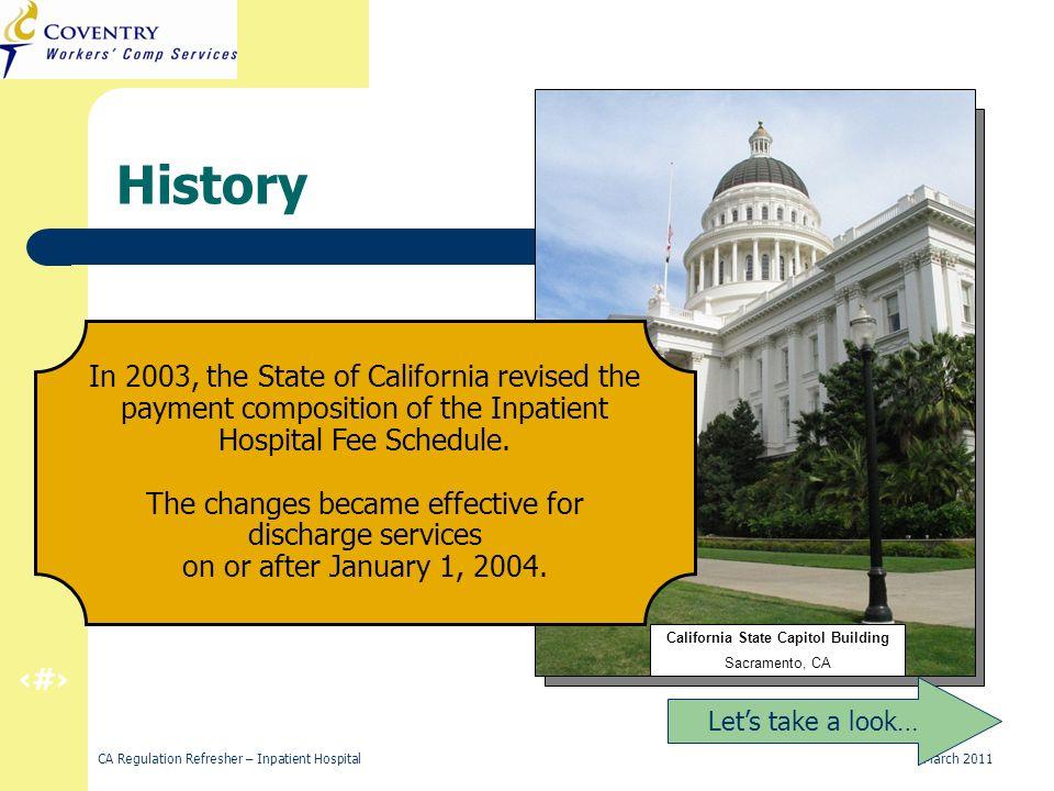 14 CA Regulation Refresher – Inpatient Hospital March 2011 MEDICARE PROVIDER NO.