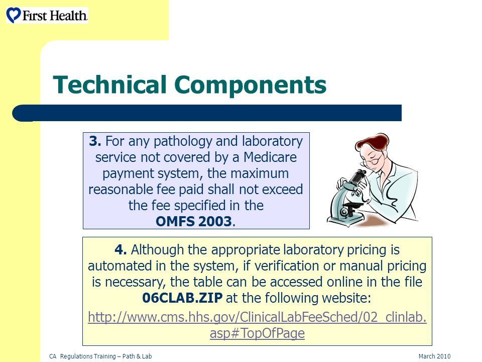 CA Regulations Training – Path & LabMarch 2010 Technical Components 3.