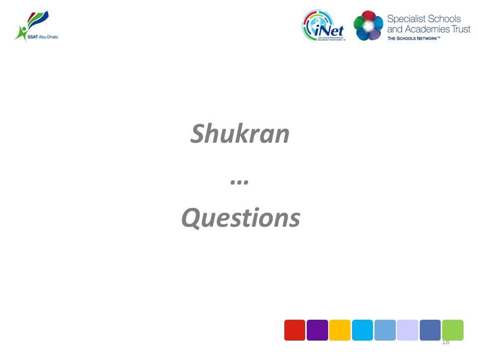 Shukran … Questions 18
