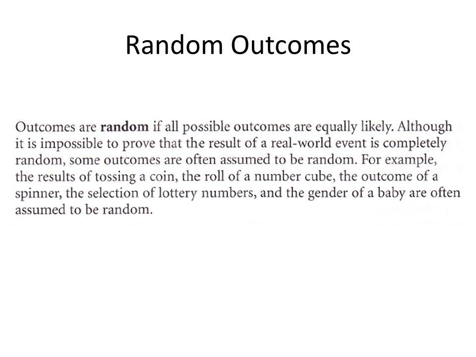 Random Outcomes