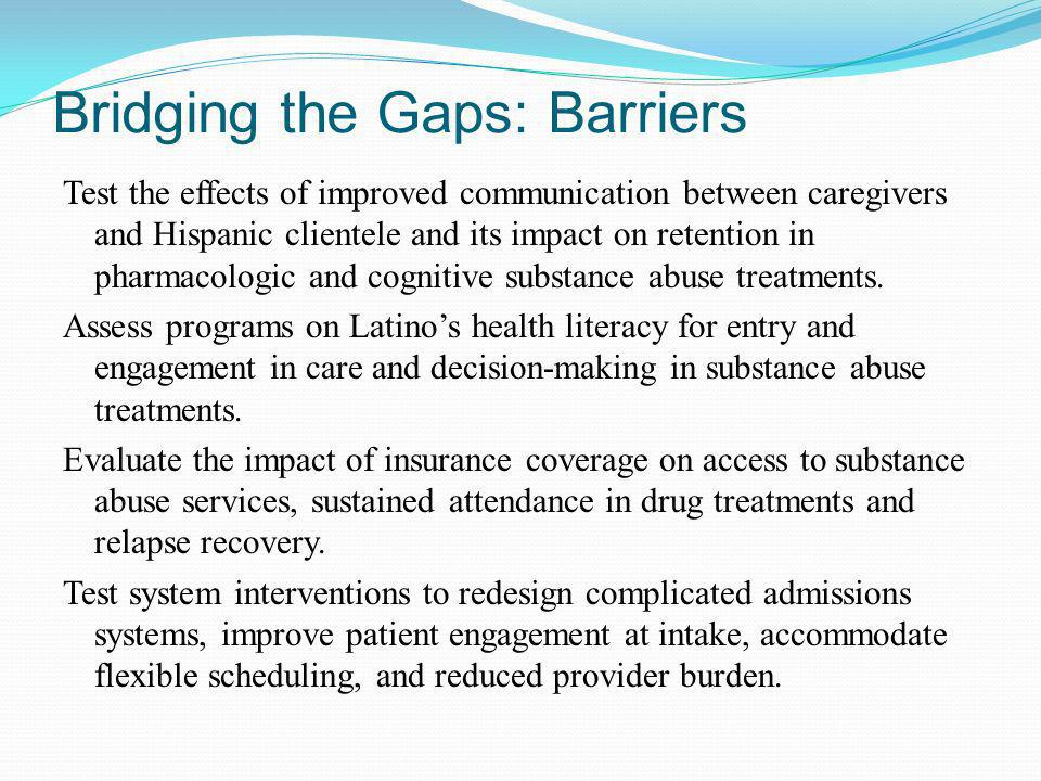Bridging the Gaps: Barriers Test the effects of improved communication between caregivers and Hispanic clientele and its impact on retention in pharma