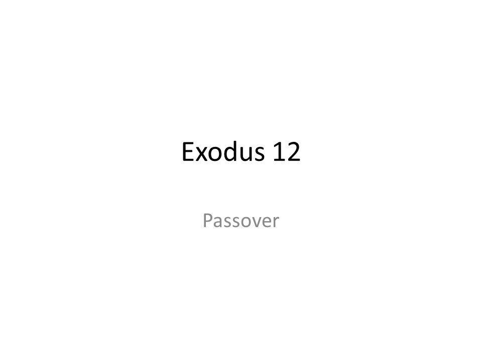 Exodus 12 Passover