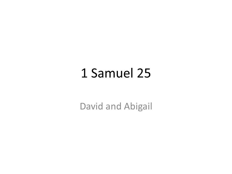 1 Samuel 25 David and Abigail