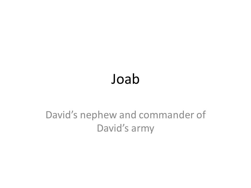 Joab Davids nephew and commander of Davids army