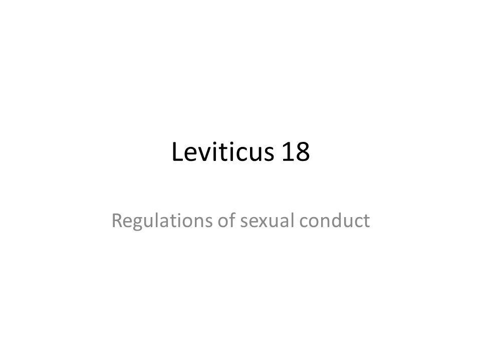 Leviticus 18 Regulations of sexual conduct
