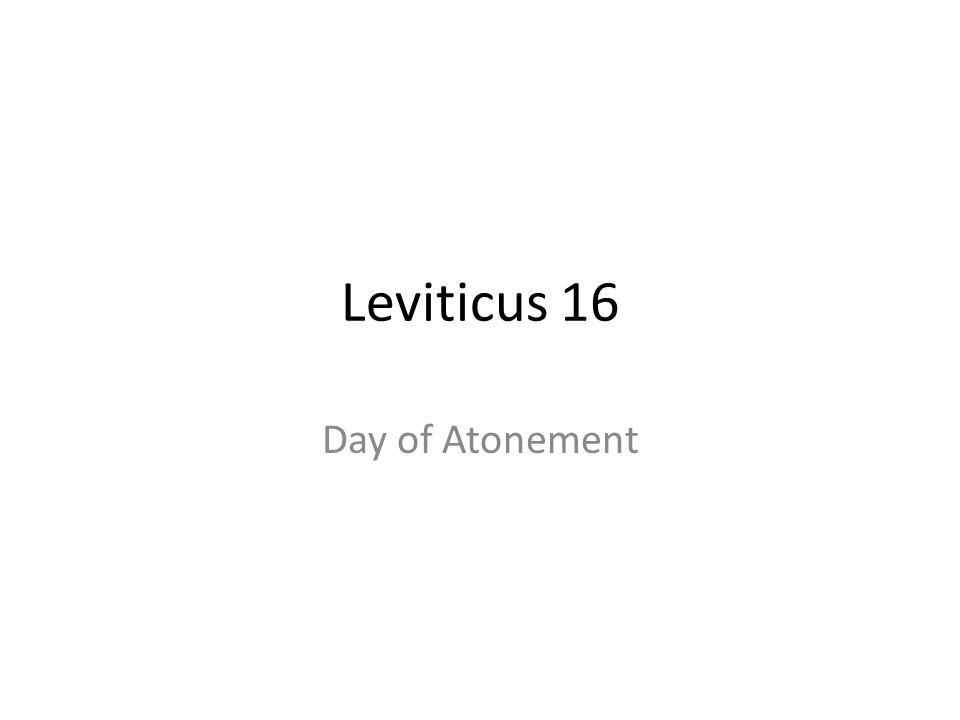 Leviticus 16 Day of Atonement