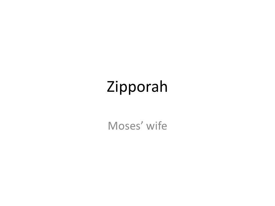 Zipporah Moses wife