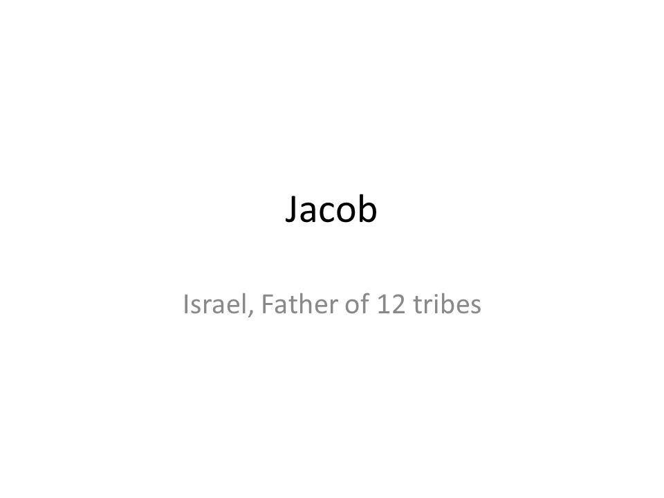 Jacob Israel, Father of 12 tribes