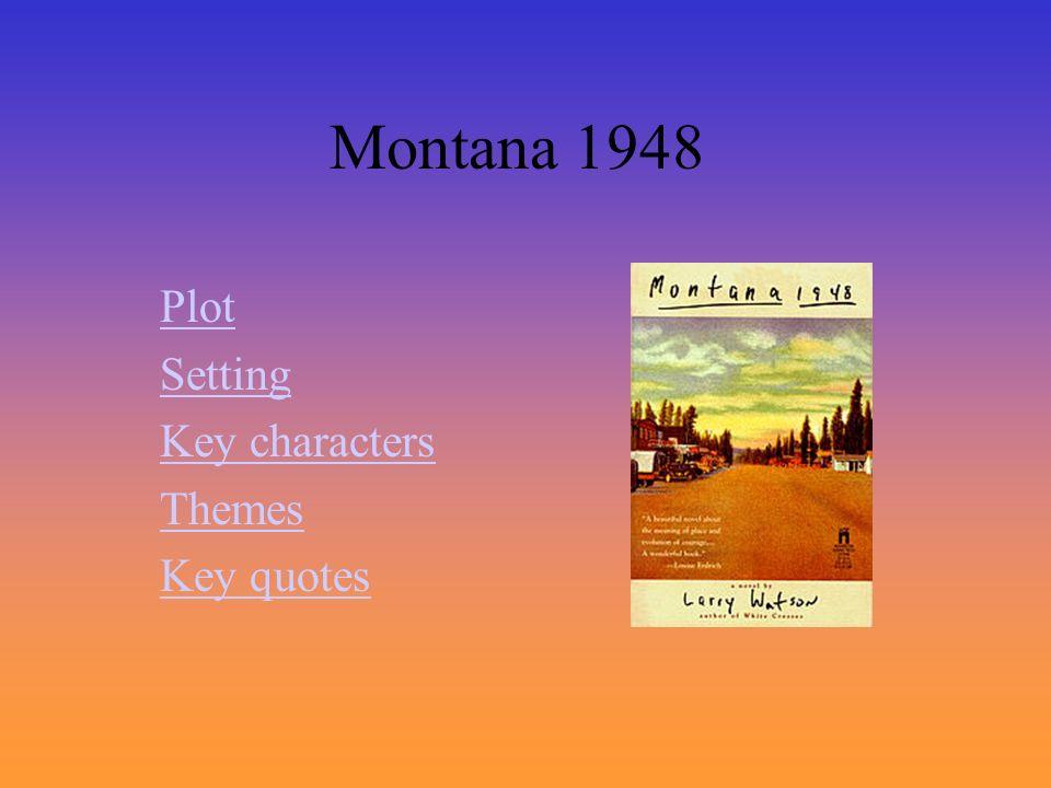 Montana 1948 Plot Setting Key characters Themes Key quotes