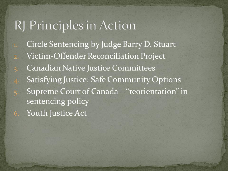1. Circle Sentencing by Judge Barry D. Stuart 2.