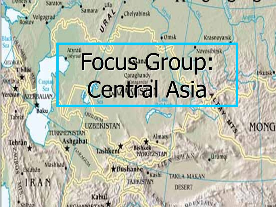 Focus Group: Central Asia Russia and the South Chechnya and other Hotspots TurkeyAfghanistan Focus Group: Central Asia