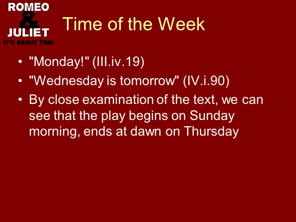 Time of the Week