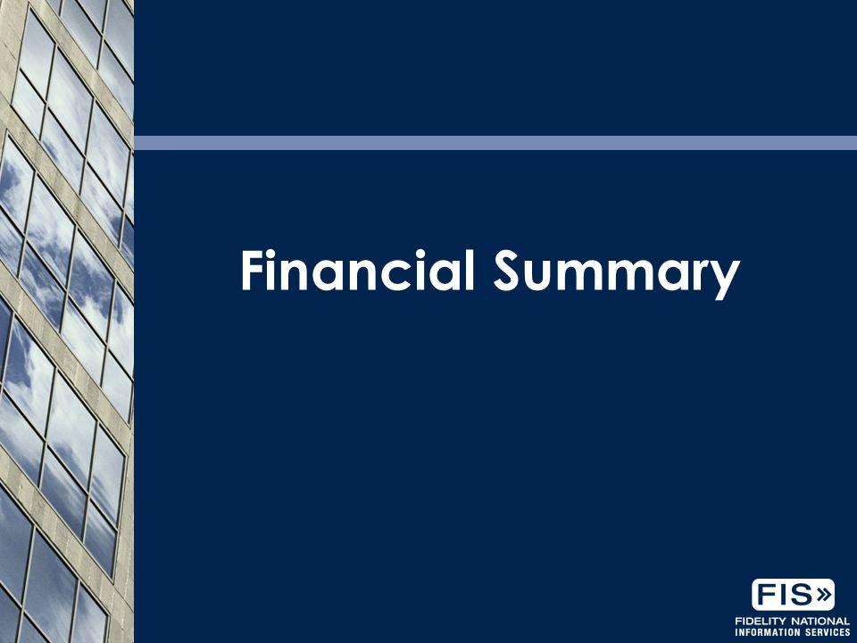 20 Financial Summary