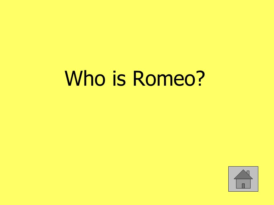 Who is Romeo