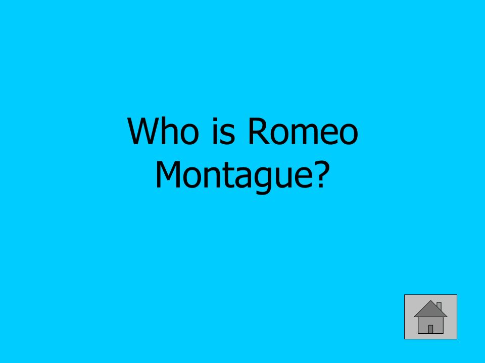 Who is Romeo Montague