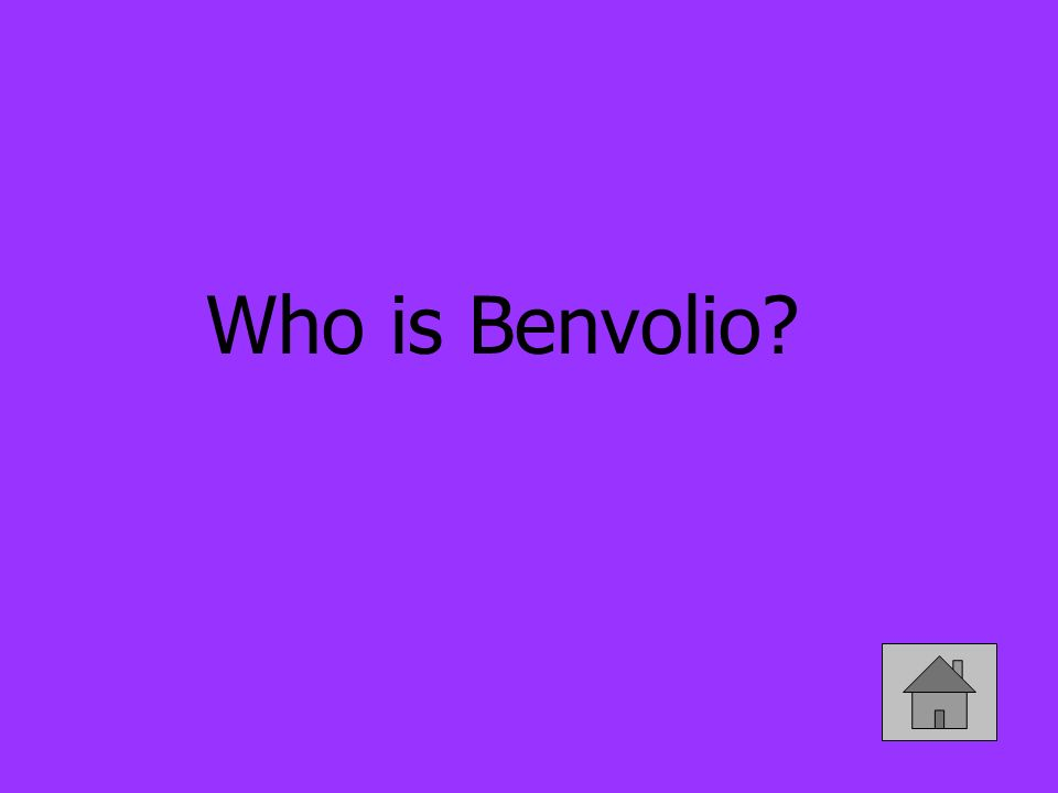 Who is Benvolio