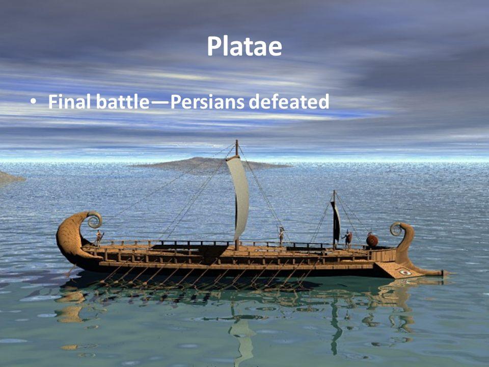 Platae Final battlePersians defeated