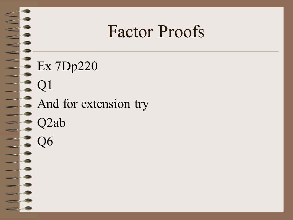 Factorising Only Questions Ex 7D p221 Q3 abde