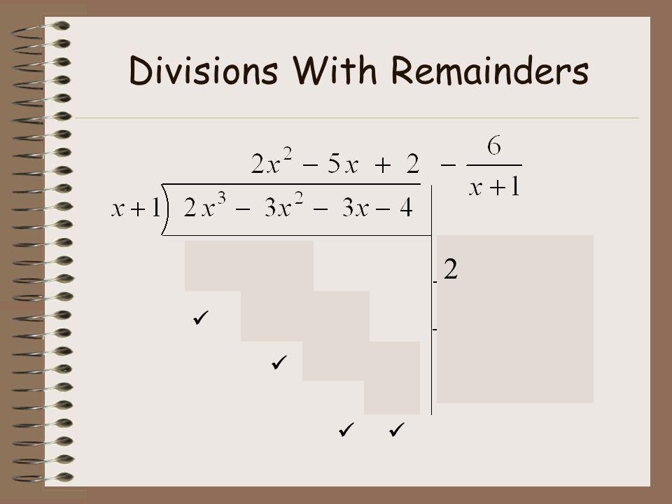 Remainders Do Ex 7B p215 Q1 LHS Q3a