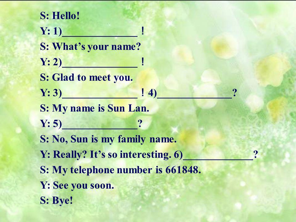 Situation: Yumi Sun Lan S Sun Lan Y Yumi