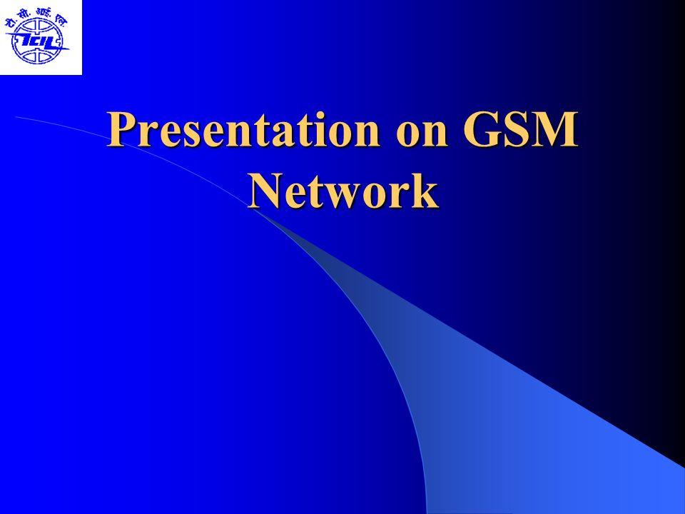 GSM System Architecture-I Mobile Station (MS) Mobile Equipment (ME) Subscriber Identity Module (SIM) Base Station Subsystem (BSS) Base Transceiver Station (BTS) Base Station Controller (BSC) Network Switching Subsystem(NSS) Mobile Switching Center (MSC) Home Location Register (HLR) Visitor Location Register (VLR) Authentication Center (AUC) Equipment Identity Register (EIR)