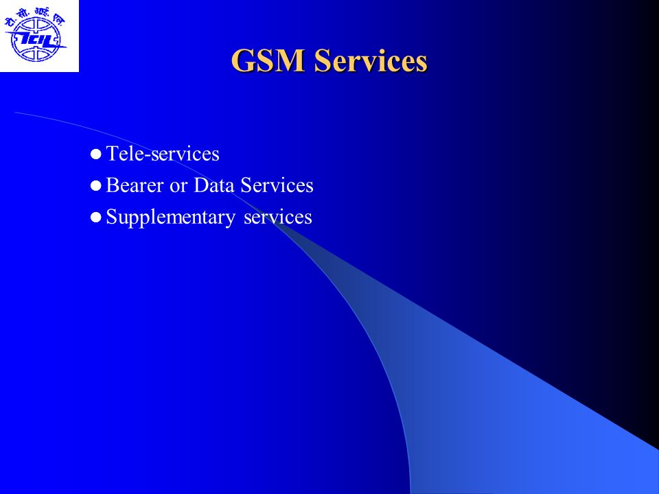 Future Of GSM 2nd Generation GSM -9.6 Kbps (data rate) 2.5 Generation ( Future of GSM) HSCSD (High Speed ckt Switched data) Data rate : 76.8 Kbps (9.6 x 8 kbps) GPRS (General Packet Radio service) Data rate: 14.4 - 115.2 Kbps EDGE (Enhanced data rate for GSM Evolution) Data rate: 547.2 Kbps (max) 3 Generation WCDMA(Wide band CDMA) Data rate : 0.348 – 2.0 Mbps