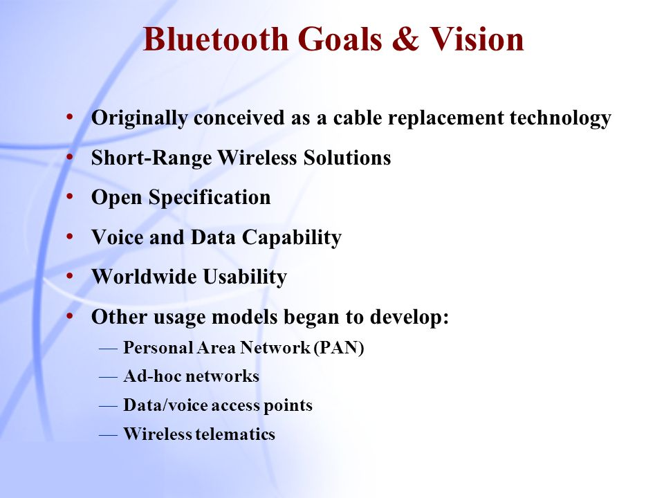 Overview of Bluetooth History What is Bluetooth.
