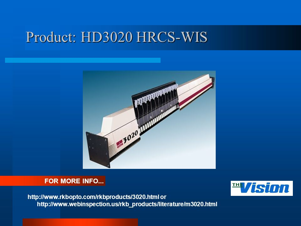 Product: HD3020 HRCS-WIS   or   FOR MORE INFO...