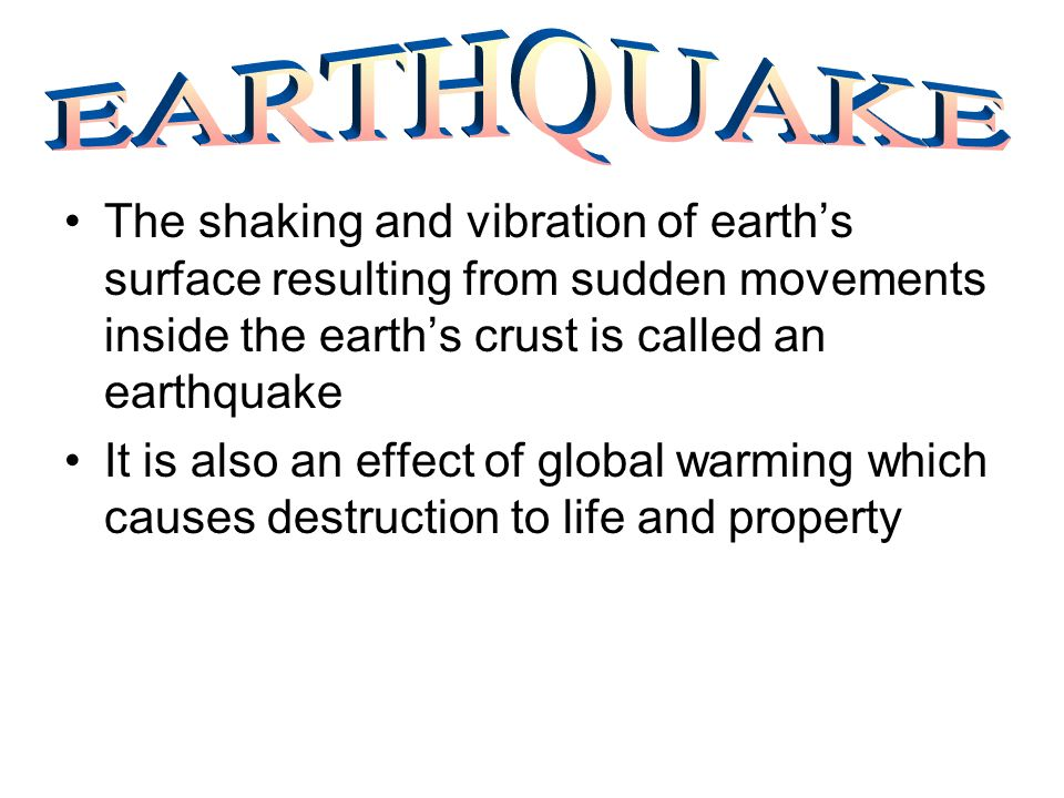 When a vent in the earths crust through which molten rocks, gases and steam force their way out to the surface of the earth which is known as volcano erupts is called volcanic eruption It causes due to global warming and the different materials erupted by volcanoes accumulate and form volcanic mountains