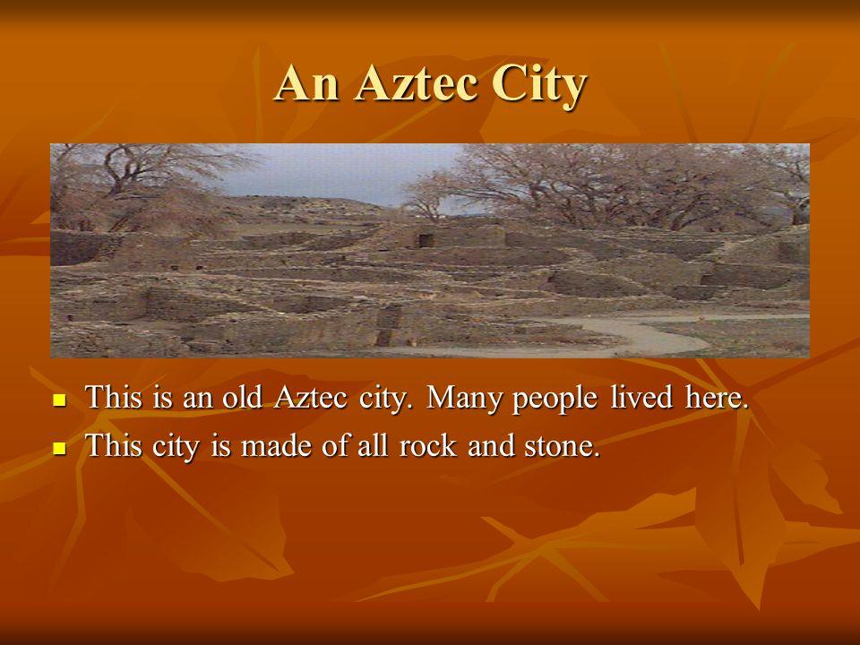 Aztec Sunstones This is an Aztec Sunstone used to tell time and date. This is an Aztec Sunstone used to tell time and date. The Aztec solar year is 36