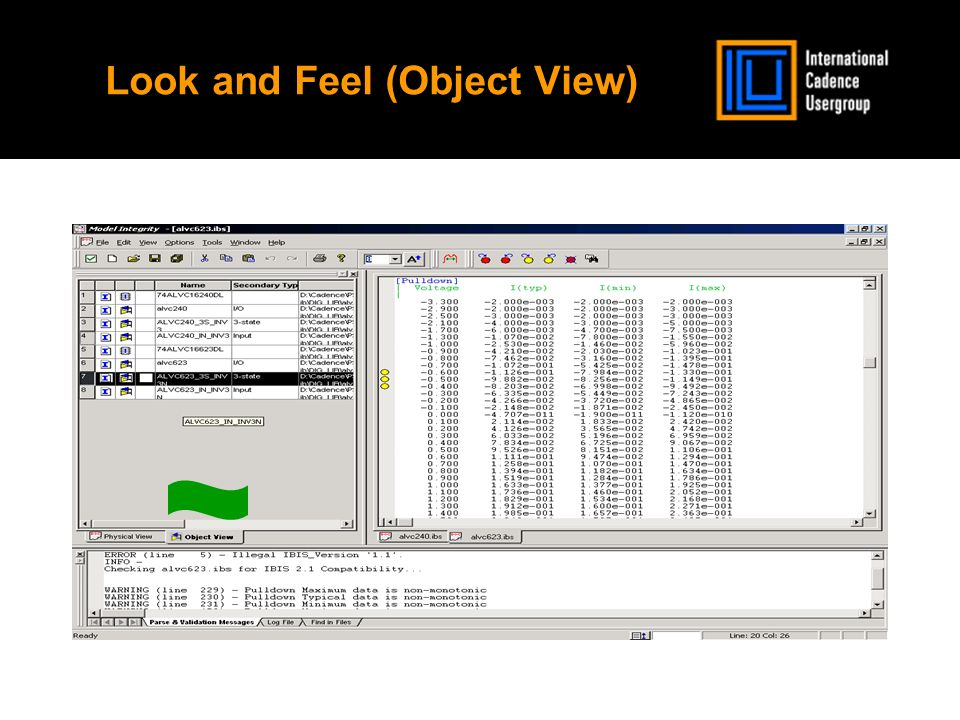 Look and Feel (Object View)